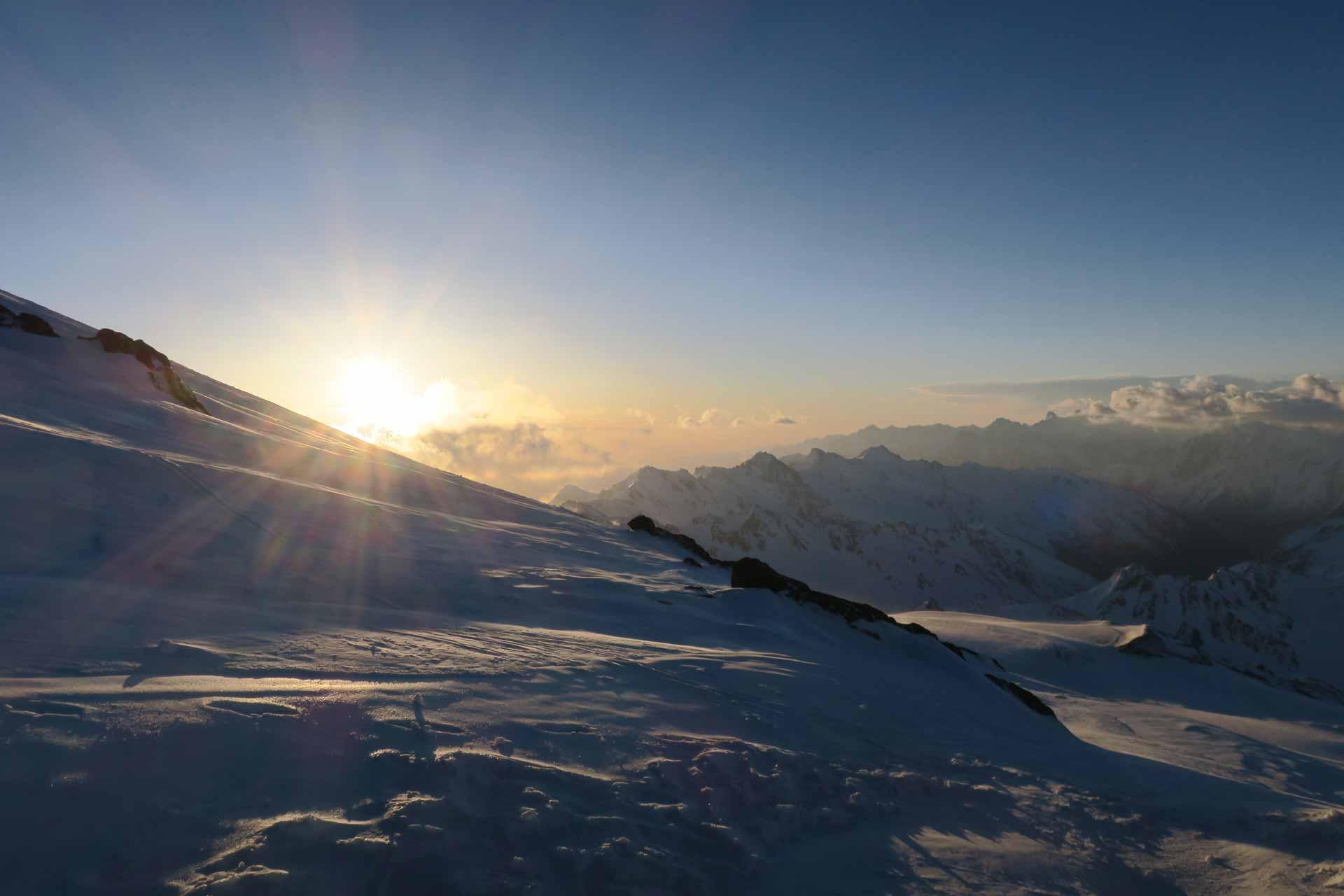 skitour erlbus morgenstimmung